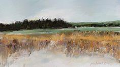 Wheat field near the ocean