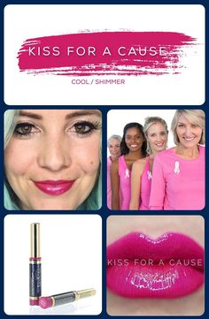 Bright Magenta lipstick, supporting a good cause. Long Lasting Lip Color, Long Lasting Lipstick, Makesense Foundation, Kiss Proof, Loose Powder, Tinted Moisturizer, Color Correction, Lip Colors