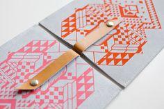 iPad CASE Geometrical Illusion   Leather Suede by CORIUMI