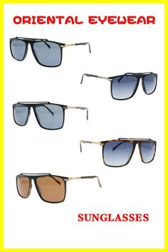 Metal Frame Sunglasses With Spring Hinges Small Rectangular Polite Style Design