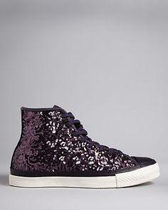 Converse All Star Premium High Top Sneakers - Nightshade Sequin | Bloomingdale's