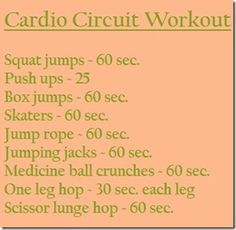 Cardio Circuit Workout