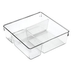 InterDesign Clarity Cosmetic Organizer for Vanity Cabinet to Hold Makeup, Beauty Products - Clear >>> More info could be found at the image url.