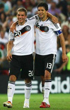 podolski and ballack- love soccer boys.