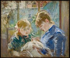 The Artist's Daughter, Julie, with her Nanny, Berthe Morisot