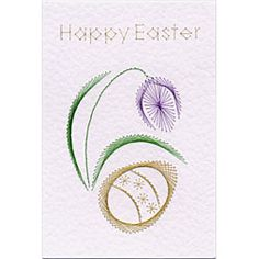 Stitching Cards Easter Egg with Flower