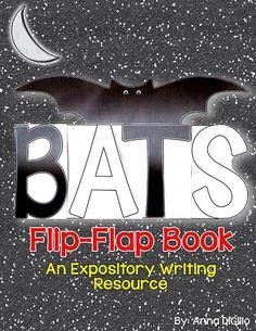 Bats Flip-Flap Book - An Expository Writing Resource Spelling Activities, Teaching Activities, Teaching Science, Teaching Ideas, Holiday Classrooms, Classroom Ideas, Second Grade Science, Stellaluna, School Fun