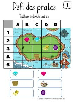 "Défis ""Explorer le monde : espace et temps"" Plus Pirate Preschool, Pirate Activities, Preschool Games, Math For Kids, Games For Kids, Computational Thinking, Montessori Math, Math School, Pirate Theme"