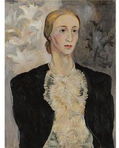 Portrait of a woman (Tatiana Ryabushinskaya) - Natalia Goncharova ...