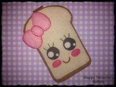 Funda movil tostada Kawaii  por Happy monsters fieltro.