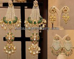 Pearls Tassels Large Earrings