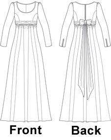 Regency Style Dress Sewing Pattern - Laura Marsh Sewing Patterns