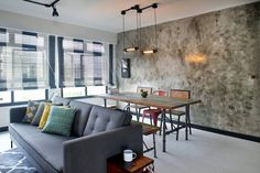 Here are Singapore's 2015 most popular homes and interior styles. Get inspired by Scandinavian, minimalist, eclectic, industrial and contemporary looks. Flat Interior Design, Cosy Interior, Interior Design Singapore, Contemporary Interior Design, Contemporary Furniture, Interior Design Living Room, Interior Styling, Living Room Decor, Small Condo