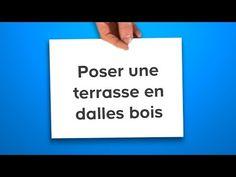 Poser une terrasse en lames bois (Castorama) - YouTube