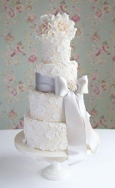 Lace  Blossom cake   Flickr: Intercambio de fotos