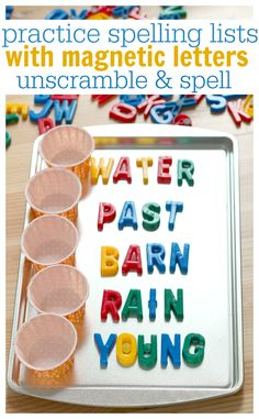 A simple, hands-on spelling activity to help your child study spelling words.