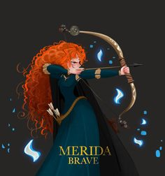 "jelly-puffer: ""Tool: Photoshop cs5 Time : 00:04:10:00 pixar film _ Brave merida ! """