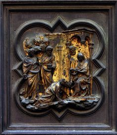 Adoration of the Magi 1403-24 | Gilded bronze, 39 x 39 cm | Baptistry, Florence | Lorenzo Ghiberti