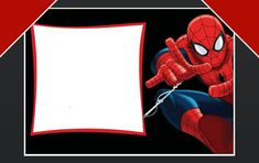 Free Spiderman birthday party invitation template