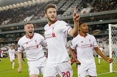 Rossiter and Ibe (here alongside Adam Lallana): the futur of LFC belongs to you fellas! In youngsters from the academy we trust.