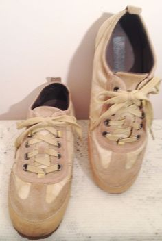 Timberland Earthkeepers Mens Tan Canvas Leather & Suede Sneakers 9.5 Medium #Timberland #FashionSneakers
