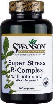 Swanson Super Stress B-Complex with Vitamin C (100 Capsules) - http://vitamins-minerals-supplements.co.uk/product/swanson-super-stress-b-complex-with-vitamin-c-100-capsules/