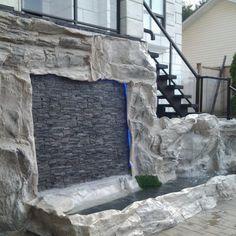 The Best Stone Waterfalls Backyard Ideas – Pool Landscape Ideas Garden Features, Water Features, Small Garden Waterfalls, Water Wall Fountain, Rock Waterfall, Waterfall Features, Water Walls, Small Ponds, Large Backyard