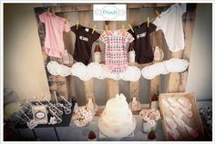 A vintage baby shower!