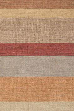 Dash and Albert Tweed Stripe Wool & Jute Area Rugs. This wide stripe wool and jute area rugs is striped in a neutral palette of colors including of wheat, red & linen. Rug Runners, Stair Runners, Dash And Albert, Rug Company, Striped Rug, Striped Style, Braided Rugs, Contemporary Area Rugs, Fabric Textures