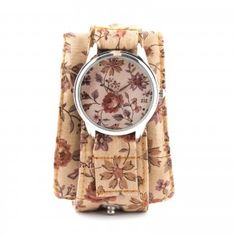 Brown Patterns Watch Fabric Watch by ZIZWatches on Etsy, Watches For Men, Wrist Watches, Telling Time, Soft Summer, Love Flowers, Fashion Watches, Style Watch, Unisex, Tony Robbins