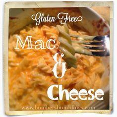 Bumber's Bumblings: Gluten free Mac and Cheese recipe