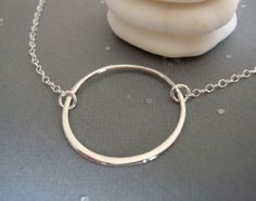 I have wanted a simple circle necklace since coveting Tara's on Sons of Anarchy.