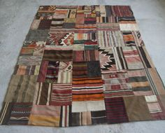 Patchwork Kilim Rug  Handmade Turkish Kilims by RugToGo on Etsy