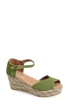 24802c68b3b Free shipping and returns on TOMS Platform Wedge Sandal (Women) at  Nordstrom.com