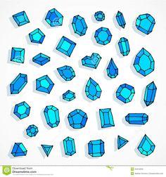 cartoon-doodle-blue-gems-vector-background-hand-drawn-illustration-52412509.jpg (1300×1390)