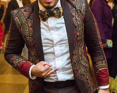 Dashiki Mens Jacket with waist coat African by SageClothing
