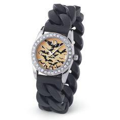 Flying Bats CZ Stretch Watch