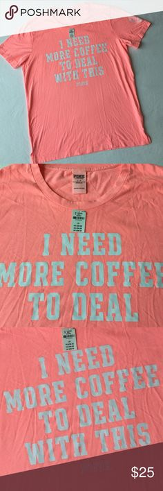 PINK VS Tee 🌷Please Read the description! Thanks!🌷  Brand new with tag Retail: $28.95 Size: L  Color may be slightly  different bcz of lighting  🌷Price is FIRM unless bundled 🌷NO Trades         🌷NO Holds 🌷All sales are final Welcome product-related questions! You are responsible for your size. PINK Victoria's Secret Tops Tees - Short Sleeve