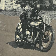 The Original Cafes | The TT Racers 1937 Norton International | Long Stroke | Pre Telescopic Fork Racer | Fishtail Exhaust | Reemerged after WWII at the 1946 Manx Grand Prix | Norton Manx 500 Racing...