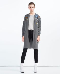 Image 1 of PATCH BOMBER JACKET from Zara