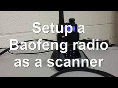 Baofeng UV-5R Programming - setup as a police scanner - YouTube