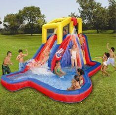 Amazon.com: Banzai Splash Blast Water Slide: Toys & Games