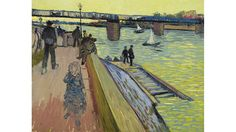 The Trinquetaille Bridge in Arles - Van Gogh, Vincent (Dutch, 1853 - Fine Art Reproductions, Oil Painting Reproductions - Art for Sale at Bohemain Fine Art