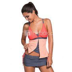 Women's Colorblock Tankini Skort Bottom Swimsuit 2017 - $557.88