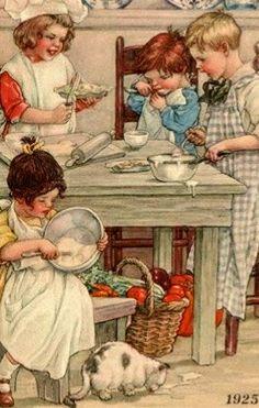 Vintage Children's Books, Vintage Ephemera, Vintage Postcards, Vintage Art, Unique Vintage, Vintage Pictures, Vintage Images, Children's Book Illustration, Illustration Children