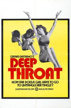 Deep Throat, movie poster  Source: X-Rated