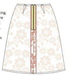 How to make an a-line skirt. A Line Skirt - Step 3