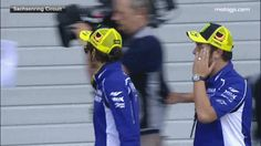 Rossi wave for the British camera #funny #Rossi #Matt (gif)