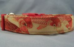 Koi dog collar by Rescue Me Collars