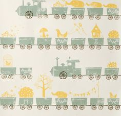 Ferm Living - Tiny Train Kids Wallpaper